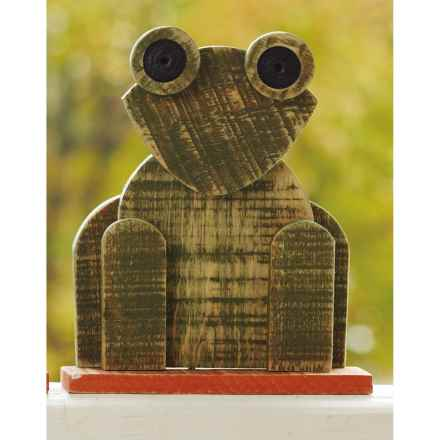 Ancient Graffiti Natural Critters Garden Decor - Frog in Green - Closeouts