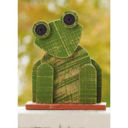 Ancient Graffiti Natural Critters Garden Decor - Frog in Light Green - Closeouts