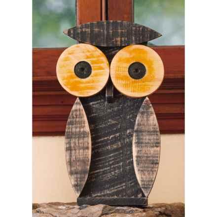 Ancient Graffiti Natural Critters Garden Decor - Owl in Dark Grey - Closeouts
