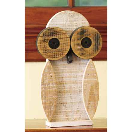 Ancient Graffiti Natural Critters Garden Decor - Owl in Light Tan - Closeouts
