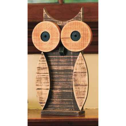 Ancient Graffiti Natural Critters Garden Decor - Owl in Tan - Closeouts