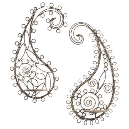 "Ancient Graffiti Paisley Wall Sconces - 11x23"", Set of 2 in Paisley - Closeouts"