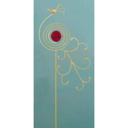 "Ancient Graffiti Peacock Garden/Lawn Stake - 40"" in Red - Closeouts"