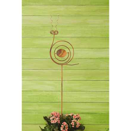 "Ancient Graffiti Snail Garden/Lawn Stake - 40"" in Copper - Closeouts"