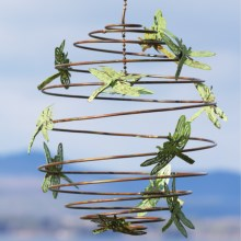 Ancient Graffiti Spiral Wind Spinner in Dragonfly - Closeouts