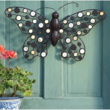 Ancient Graffiti Winged Metal Wall Art in Butterfly - Closeouts