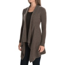 Andrea Jovine Cascade Cardigan Sweater - Cashmere, Open Front (For Women) in Coca Heather - Closeouts