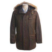 Andrew Marc Bauer Parka - Coyote Trim Hood, Insulated (For Men) in Saddle - Closeouts