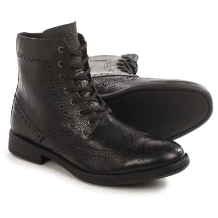 Andrew Marc Baycliff Wingtip Boots - Leather (For Men) in Black - Closeouts