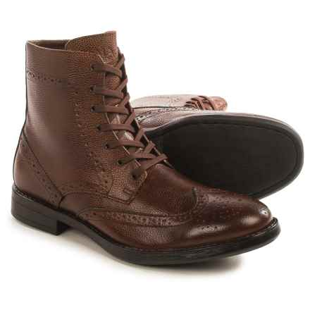 Andrew Marc Baycliff Wingtip Boots - Leather (For Men) in Russet/Black - Closeouts