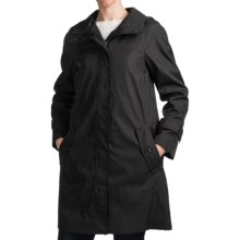 Andrew Marc Caroll Rain Coat - Zip-Out Liner (For Plus Size Women) in Black - Closeouts