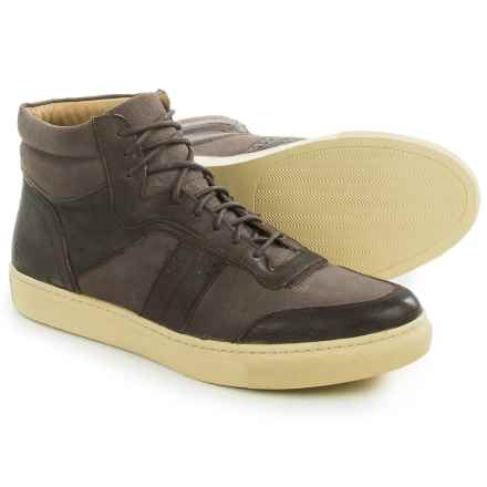 Andrew Marc Concord High-Top Sneakers (For Men) in Brown/Cream - Closeouts