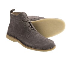 Andrew Marc Dorchester Crepe Chukka Boots (For Men) in Lead/Deep Natural - Closeouts