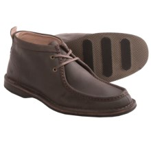 Andrew Marc Dorchester Leather Chukka Boots - Moc Toe (For Men) in Dark Brown/Black - Closeouts