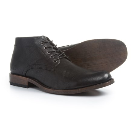 2f3301fc5da Andrew Marc Drake Chukka Boots - Vegan Leather (For Men) in Black -  Closeouts