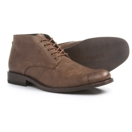Andrew Marc Drake Chukka Boots - Vegan Leather (For Men) in Coffee/Black