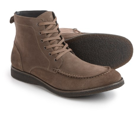 Andrew Marc Marc New York by  Borden Boots - Suede (For Men) in Ash/Smoke