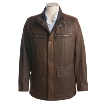 Andrew Marc Miller Mid-Length Jacket (For Men) in Saddle - Closeouts
