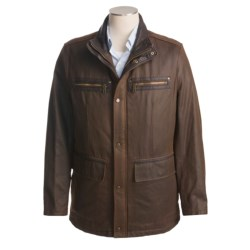 Andrew Marc Miller Mid-Length Jacket (For Men) in Saddle