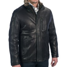 Andrew Marc Noah Jacket - Lambskin (For Men) in Black - Closeouts