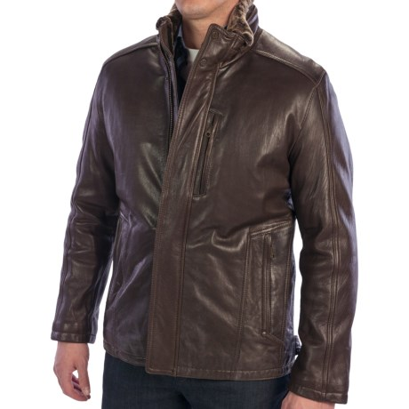 Andrew Marc Noah Jacket - Lambskin (For Men) in Espresso