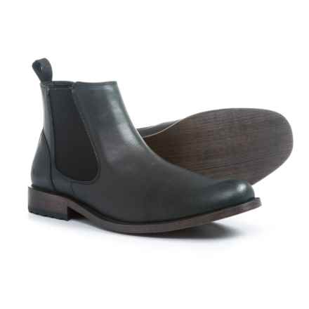 Andrew Marc Parson Chelsea Boots - Vegan Leather (For Men) in Black - Closeouts