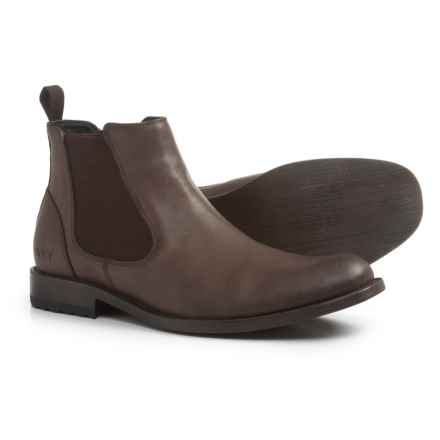 Andrew Marc Parson Chelsea Boots - Vegan Leather (For Men) in Coffee/Black - Closeouts