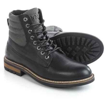 Andrew Marc Radcliff Boots - Leather, Plain Toe (For Men) in Black/Grey/Cymbal - Closeouts
