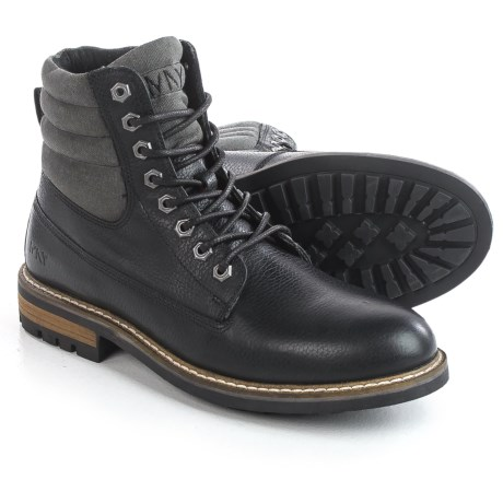 Andrew Marc Radcliff Boots - Leather, Plain Toe (For Men) in Black/Grey/Cymbal