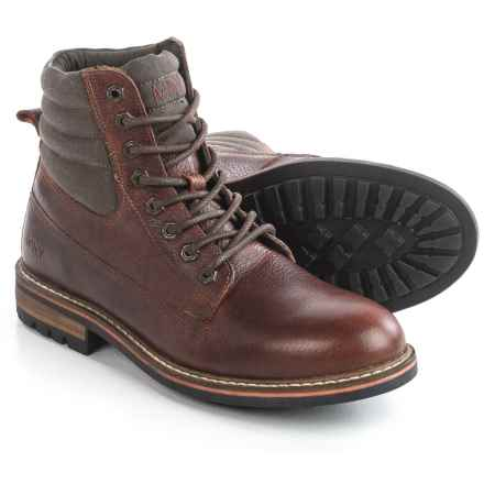 Andrew Marc Radcliff Boots - Leather, Plain Toe (For Men) in Burgundy/Brown/Black/Cymbal - Closeouts