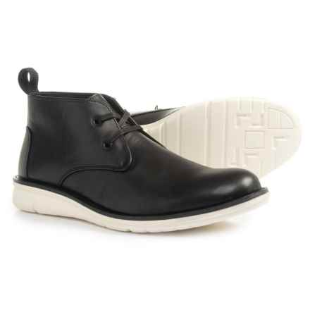 Andrew Marc Thompson Chukka Boots - Vegan Leather (For Men) in Black/White - Closeouts