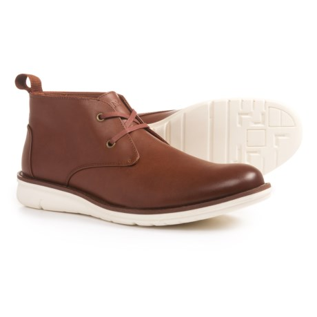 Andrew Marc Thompson Chukka Boots - Vegan Leather (For Men) in Brown/White