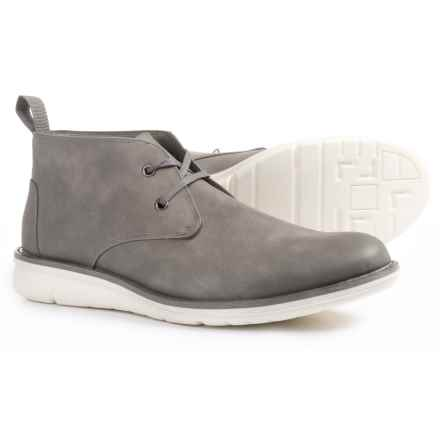 Andrew Marc Thompson Chukka Boots - Vegan Leather (For Men) in Grey/White - Closeouts