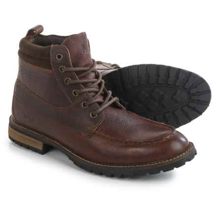 Andrew Marc Yates Boots - Leather (For Men) in Burgundy/Bark/Black/Cymbal - Closeouts