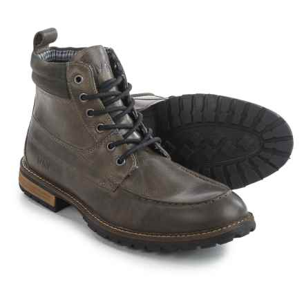 Andrew Marc Yates Boots - Leather (For Men) in Grey/Dark Grey/Cymbal - Closeouts