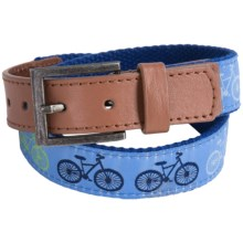 Andy & Evan Bicycle Print Belt (For Little Boys) in Navy - Closeouts