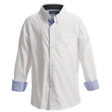 Andy & Evan Oxford Shirt - Long Sleeve (For Toddler and Little Boys) in White Oxford - Closeouts