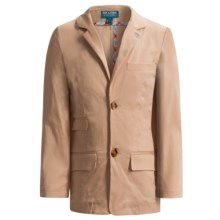 Andy & Evan Twill Blazer - Stretch Cotton (For Toddler and Little Boys) in Khaki - Closeouts