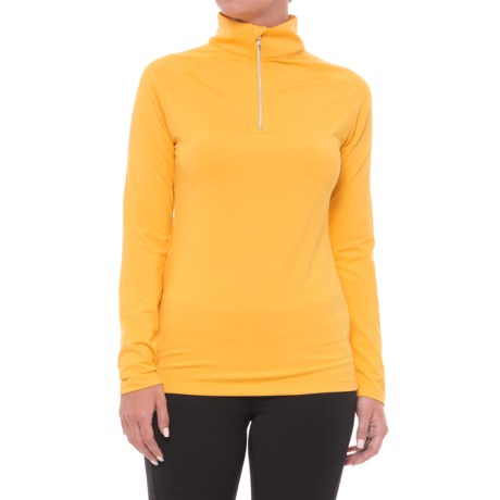 Image of Andy Zip Neck Shirt - Long Sleeve (For Women)