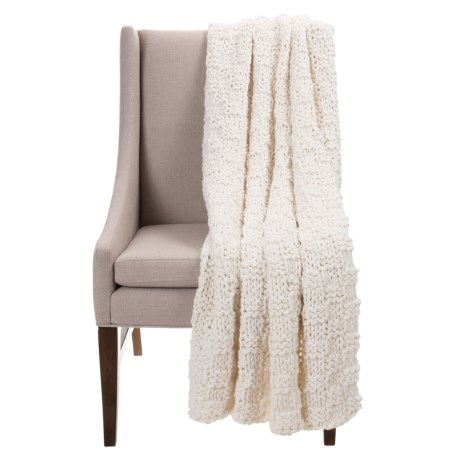 """Anew Chunky Basket-Weave Blanket - 52x68"""" in Cloud"""