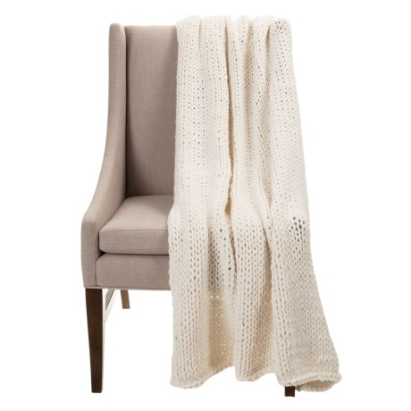 """Anew Cozy Cloud Knit Throw Blanket - 52x68"""" in Cloud"""