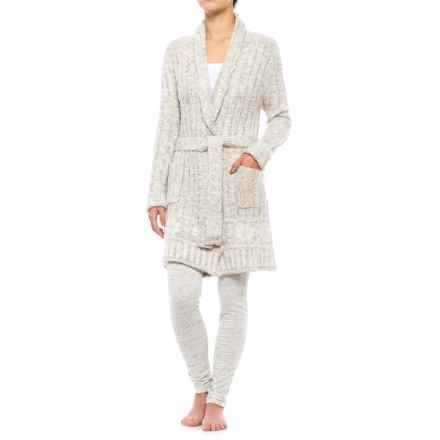 Anew Gingerbread Robe - Long Sleeve (For Women) in White Sand - Closeouts