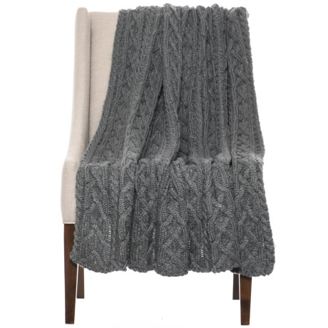 """Anew Home Sweet Marshmallow Dreams Throw Blanket - 52x68"""" in Graphite"""