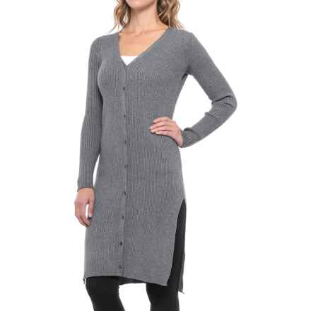Anew Ribbed Lounge Cardigan Sweater (For Women) in Twilight - Closeouts