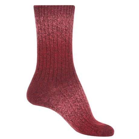 Anew Space-Dyed Socks - Crew (For Women) in Red