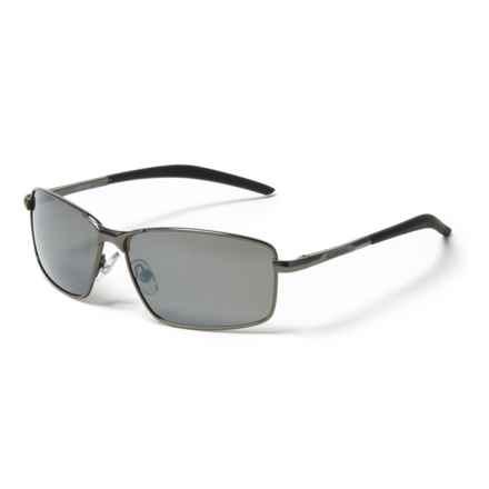Angler Eyes 25 Smoke Pilot Metal Sunglasses - Polarized in Gunmetal