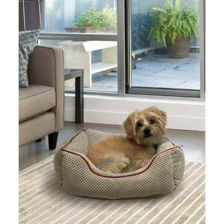 "Animal Planet Dots Pattern Cuddler Dog Bed - 20x17"" in Warm Grey - Closeouts"