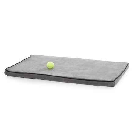 "Animal Planet French Terry Memory-Foam Dog Crate Mat - 40x26"" in Grey - Closeouts"