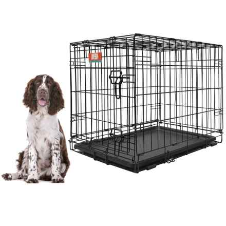 """Animal Planet Metal Dog Crate - 30x19x21"""" in Black - Closeouts"""