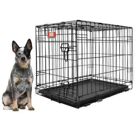 "Animal Planet Metal Dog Crate - 36x23x25"" in Black - Closeouts"